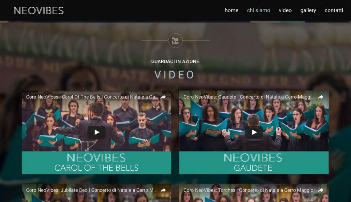 Coro NeoVibes Website