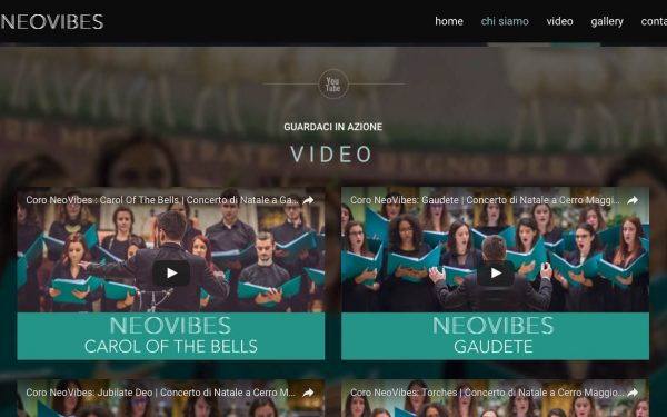 Coro NeoVibes Website